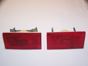 1970 1971 Ford Torino Ranchero Red Rear Side Marker Lights Pair Sae P1a 70fn