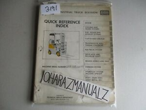Clark Forklift C20b Quick Reference Guide Manual