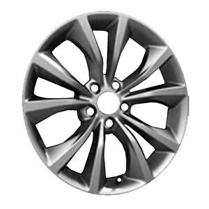 Remanufactured 18x8 Alloy Wheel 10 Spokes Light Smoked Hyper Silver Painted
