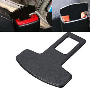 1pc Car Accessories Safety Seat Belt Buckle Alarm Stopper Eliminator Clips Black