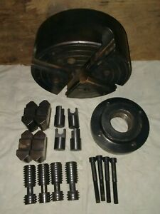 7 1 2 South Bend Skinner 4 Jaw Chuck W jaws No 4207 parts