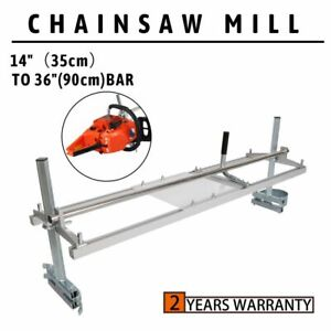 Fit 14 36 Chainsaw Guide Bar Chain Saw Mill Log Planking Lumber Aluminum