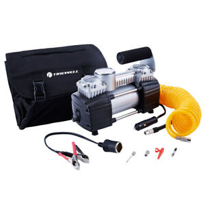 Tirewell 12v Tire Inflator heavy Duty Double Cylinders Air Compressor 150psi