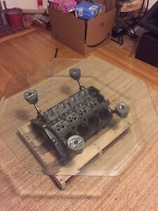 Chevy 350 Small Block Engine Coffee Table Man Cave Table Gear Head