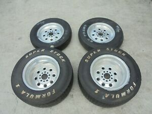 Chevy 5x4 75 Weld Racing Wheels 15x4 15x10 Aluminum Rims Polished 5x120