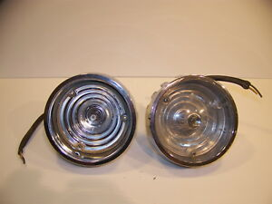 1966 Plymouth Front Turn Signal Assy Oem Pair Satellite Belvedere I Ii 2575101