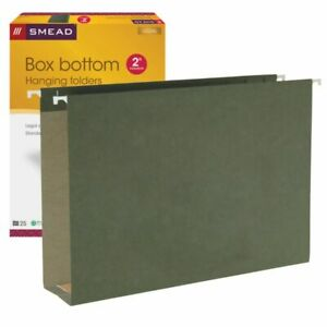 Smead Hanging Box bottom File Folders 2 Expansion Legal Size Standard Green