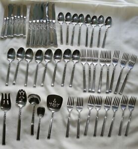 Oneida Heirloom Silver Rose Sterling Silver Flatware Set 53 Pieces