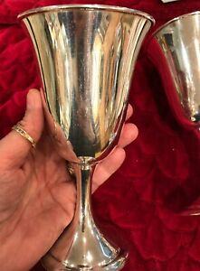 Alvin Sterling Silver Goblet 2 Available M157 1 925 6 5 8 8 Oz Water Wine Cup