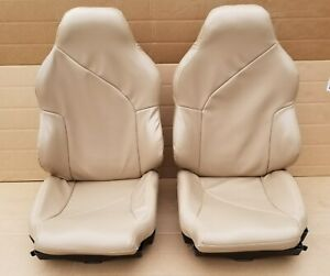 1994 1996 Corvette C4 Sport Seats Beige Complete Newly Recovered Leather Like
