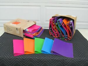 1 Inch Plastic 3 Ring Binders Lot Of 48 New Assorted Colors 188660