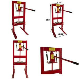 Dragway Tools 6 Ton Hydraulic Shop Floor Press With Press Plates And H Frame Is