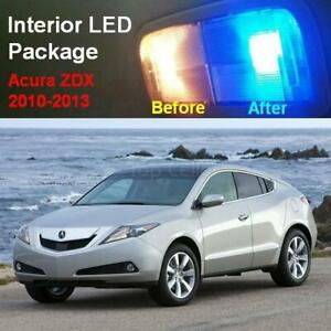11x Blue Interior Led Lights Combo For Acura Zdx 2010 2013