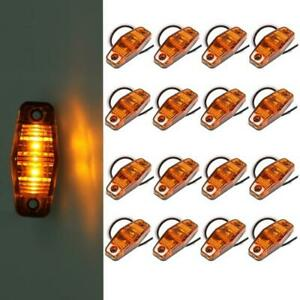 16pcs Amber 2 5 X 1 Side Marker Light Identification Lamp For Truck Trailer