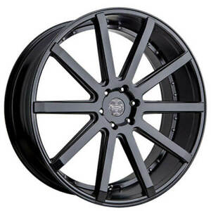 Qty4 24 Versante Wheels Ve232 Black Rims Fs