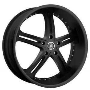 24 Versante Wheels Ve226 Matte Black Rims Fs
