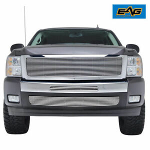 Eag Fit For 07 13 Chevy Silverado 1500 Chrome Billet Grille W Shell