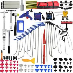 Paintless Rods Tools Dent Repair Removal Set Dent Lifter Spring Steel Kit Bag A