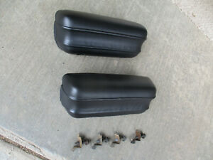 69 70 71 72 Ford Maverick Black Door Arm Rests With Screws Clips 1970 1971 1972