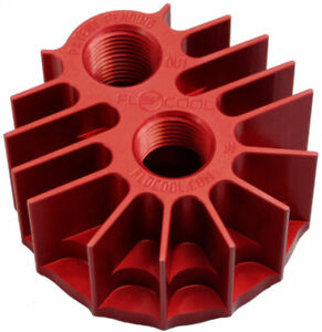 Spin On Oil Filter Adapter Billet Cooling Aluminum Red Anodize M22x1 5 Flocool
