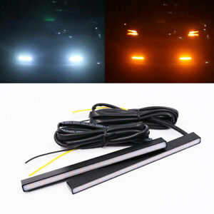 Sequential Turn Signal Lights Switchback Dual Color Metal Led Drl Daytime Lights