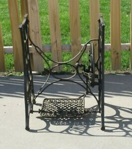Antique 1880s New Home Treadle Sewing Machine Base Industrial Legs Table Legs