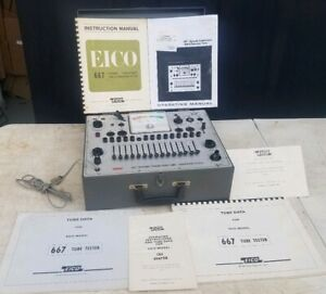 Eico Model 667 Dynamic Conductance Tube Transistor Tester W Manuals Excellent
