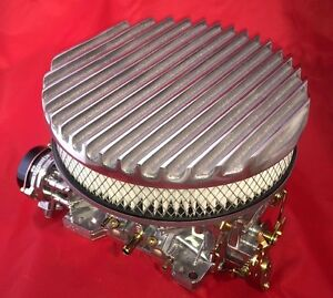 Aussiespeed 9 Polished Finned Cast Aluminum Air Cleaner Assy Hot Rod Filter