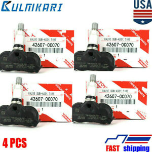 New 4pcs 42607 0c070 Tpms Transmitter Tire Air Pressure Monitor System Sensor
