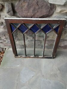 Antique Original Stained Glass Window From A Lehigh Valley Pa Inn Circa 1900