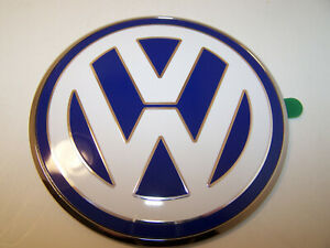 Volkswagen Vw Emblem Trunk Hatch Boot Decal Beetle Chrome Oem Original 1 New