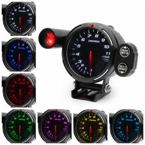 3 5 80mm 7 Color Led Car Tachometer Rpm Gauge Meter Step Motor W Shift Light