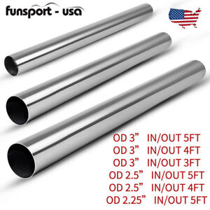 Exhaust Pipe Tubing Od 2 25 2 5 3 Inlet 3 4 5ft Long Tube Piping Stainless