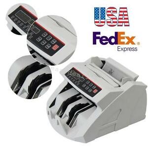 Usa Money Bill Currency Counter Counting Machine Counterfeit Cash Register 110v