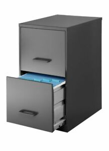 Realspace 18 d 2 drawer Vertical File Cabinet Charcoal