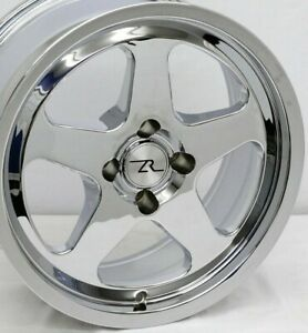 17 Chrome Mustang Saleen Sc Style Wheels Deep Dish 17x8 17x9 4x108 79 93 Fox
