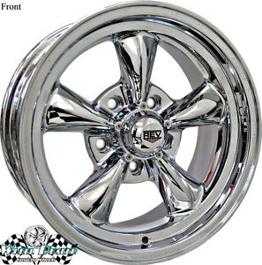 15x7 15x8 Chrome New Rev Classic 100 Wheels Rims For Chevy C3 Corvette 1980 1981
