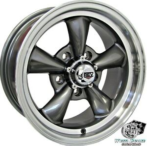 15x7 15x8 Gray New Rev Classic 100 Wheels 5x4 75 For Chevy Chevelle 1964 1972