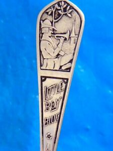 Vintage Sterling Silver Little Boy Blue Child S Spoon Youth Spoon