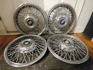 Set Of 4 Oem 1990 96 Buick Century 14 Wire Spoke Hubcaps Wheel Covers 10180834