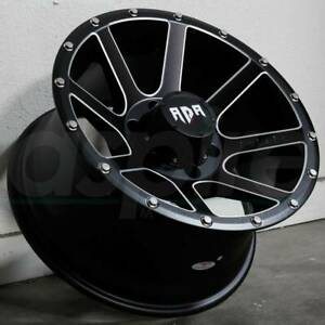 18x9 Black Milled Wheels Rdr Rd08 Rd8 5x5 5x127 12 Set Of 4