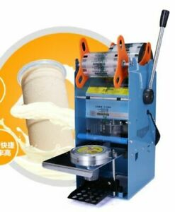 Wy 802f Manual Tall cup Sealing Machine For Bubble Tea fruit Juice 220v