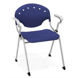 Rico Stack Chair With Arms Navy