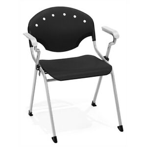 Rico Stack Chair With Arms Black