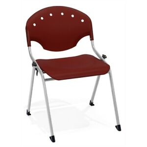 Rico Stack Chair Without Arms Burgundy
