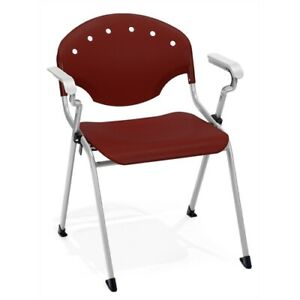 Rico Stack Chair With Arms Burgundy