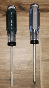 Masterforce Slotted And Phillips Head Screw Drivers Usa Made
