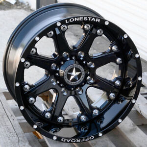 20 Gloss Black Lonestar Bandit Deep Wheels Chevy Gmc 2500 3500 20x10 8x180 25