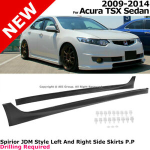 For Acura Tsx 2009 2014 Sedan Side Skirts Rocker Molding Jdm Style Aero Kit Trim