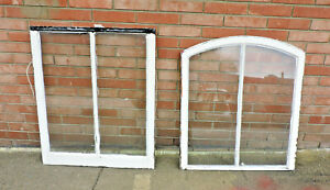 Antique Arched Wood Window Sash Set Architectural Salvage